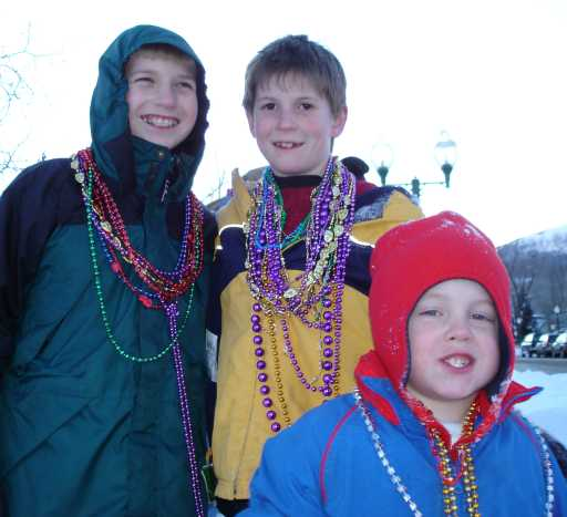 bead-covered kids