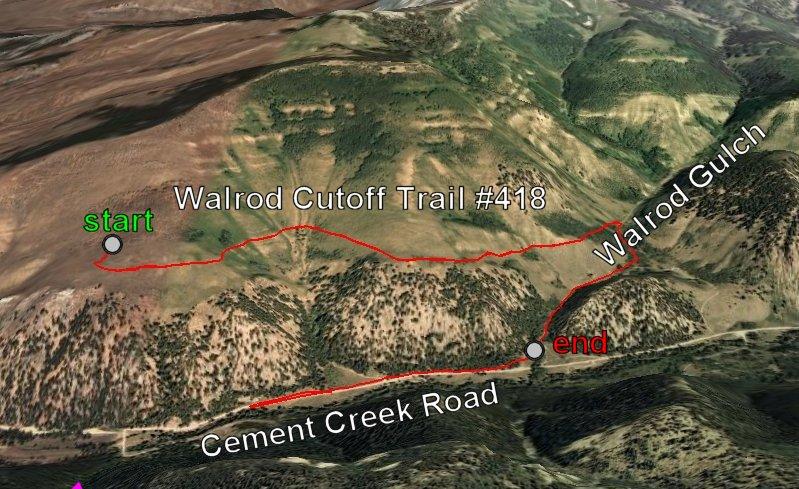 Walrod Cutoff Trail #418